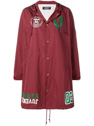 Undercover Buttoned Up Raincoat Red