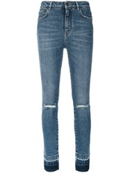 Dolce And Gabbana Skinny Jeans Women Cotton Spandex Elastane 42 Blue
