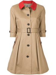 Guild Prime Short Sleeve Swing Coat Nude And Neutrals