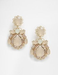 Coast Neutral Jewel Earrings Stone