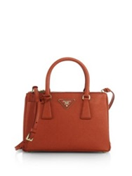 Prada Saffiano Lux Small Double Zip Tote Nero Black Fuoco Red Celeste Blue