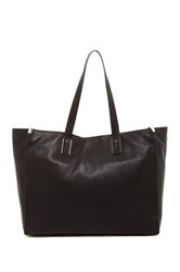 Kenneth Cole Mercer Street Leather Tote Black