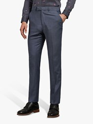 Ted Baker Whitbej Wool Tailored Suit Trousers Light Blue