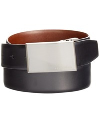 Perry Ellis Reversible Feather Edge Smooth Grain Belt Blk20