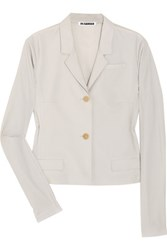 Jil Sander Drawstring Detailed Wool Blazer