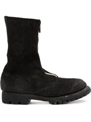 Guidi Front Zip Ankle Boots Men Calf Leather 41 Black