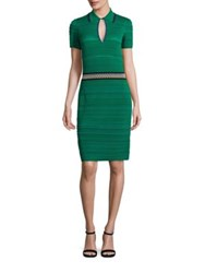 Missoni Short Sleeve Knit Dress Green