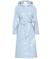 Alexachung Cotton Blend Trench Coat Blue