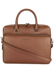 Salvatore Ferragamo Revival Briefcase Brown