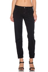 Joe's Jeans Edita Flight Zip Ankle Jogger Black