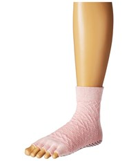 Toesox Ankle Half Toe W Grip Chill Quarter Length Socks Shoes Gray