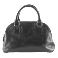 Maxwell Scott Bags Luxury Italian Leather Women's Bowling Bag Liliana S Night Black