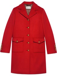 Gucci Wool Coat With Double G Red