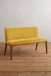 Anthropologie Velvet Emrys Bench Gold