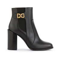 Dolce And Gabbana Dg Amore Ankle Boots Black