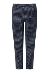 James Lakeland Long Patterened Trousers Navy