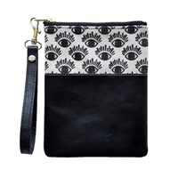 Two Tickets Eye Print Mini Wristlet Pouch