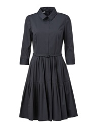 Oscar De La Renta Flared Shirt Dress Blue