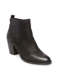 Steve Madden Repell High Heel Leather Booties Black