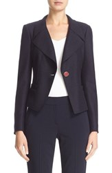 Armani Collezioni Women's Boiled Wool One Button Jacket