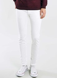Topman Ecru Stretch Skinny Jeans Cream