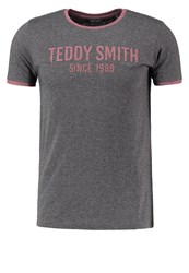 Teddy Smith Tristan Print Tshirt Mottled Grey