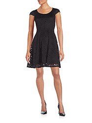 Karl Lagerfeld Lace Fit And Flare Dress Black