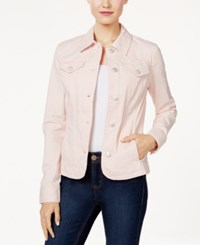 Charter Club Denim Jacket Only At Macy's Misty Pink