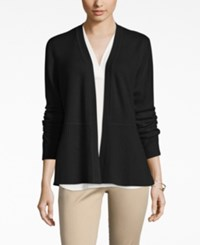 Charter Club Cashmere Ribbed Peplum Cardigan Only At Macy's Classic Black