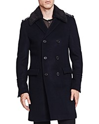 The Kooples Soft Military Wool Coat Navy