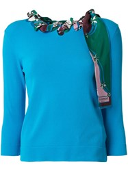 Emilio Pucci Long Sleeved Woven Scarf Top 60