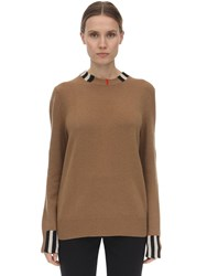 Burberry Cashmere Knit Sweater Beige
