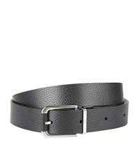 Dunhill Reversible Grain Leather Belt Unisex Black