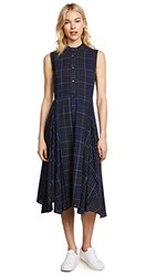 Public School Casside Dress Navy Plaid