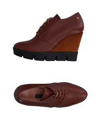 Cuple Lace Up Shoes Cocoa