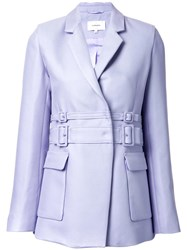 Carven Double Belted Jacket Pink Purple
