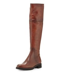 Sesto Meucci Wales Low Heel Leather Boot Cuoio Deco