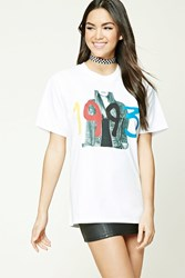 Forever 21 1993 Graphic Tee White Black