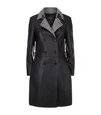 Set Leather Coat Black