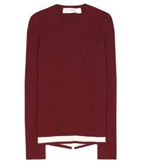 Victoria Beckham Wool Blend Sweater Red