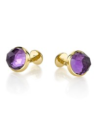 Round Rose Cut Amethyst Cuff Links Men's Suzanne Felsen