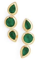 Women's Anna Beck 'Gili' Doublet Stud Earrings Gold Green Onyx
