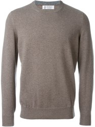 Brunello Cucinelli Crew Neck Sweater Brown