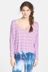 Hard Tail Dolman Sleeve Top Purple