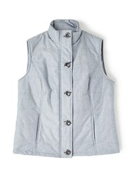 Dash Chambray Padded Gilet Blue