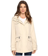 Michael Michael Kors Four Pocket Hooded Anorak M322149r74 Sand Women's Coat Beige