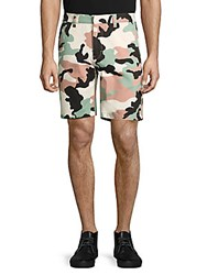 Wesc Rai Printed Cotton Shorts Misty Rose