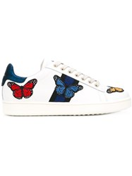 Moa Master Of Arts Butterfly Sneakers Women Calf Leather Leather Rubber 38 White