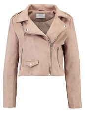 Sparkz Jeremy Faux Leather Jacket Beige