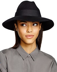 Bettina Wide Brim Fedora Black